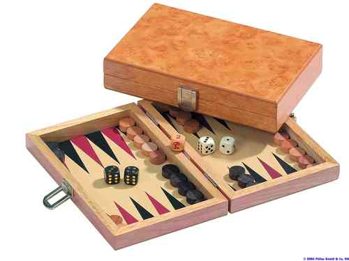 Reisebackgammon Erle mini